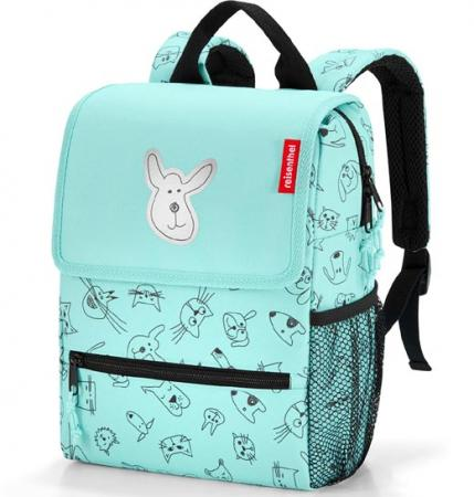 reisenthel Backpack Kids cats and dogs mint Kinderrucksack
