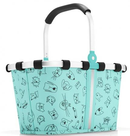 reisenthel carrybag XS Kids cats and dogs mint Einkaufskorb