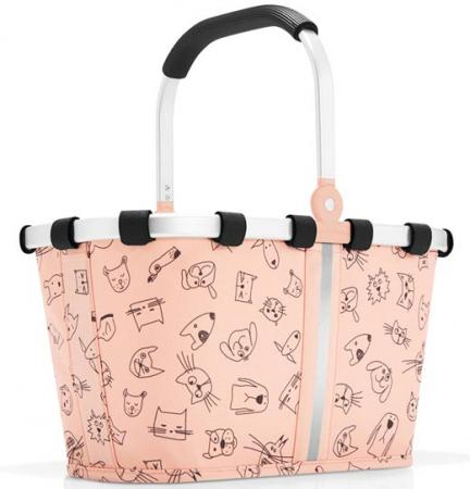 reisenthel carrybag XS Kids cats and dogs rose Einkaufskorb